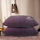 Hilton 希爾頓 VIP 精梳棉立體負離子獨立筒枕 紫色 兩入組