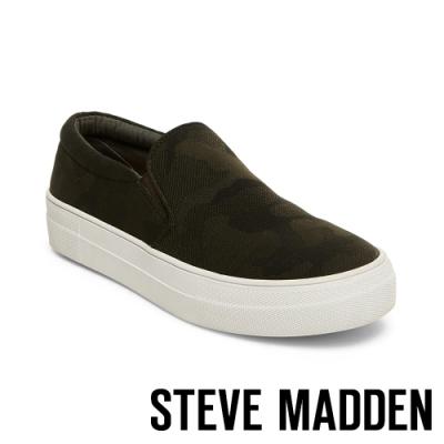 STEVE MADDEN-GILLS特殊紋平底懶人鞋-特殊紋墨綠色