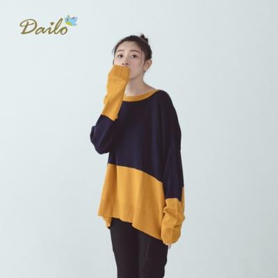 新降【Dailo】拚色運動風-針織衫(三色)
