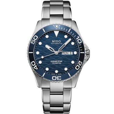 MIDO美度 Ocean Star 200C海洋之星 廣告款陶瓷圈潛水機械錶(M0424301104100)