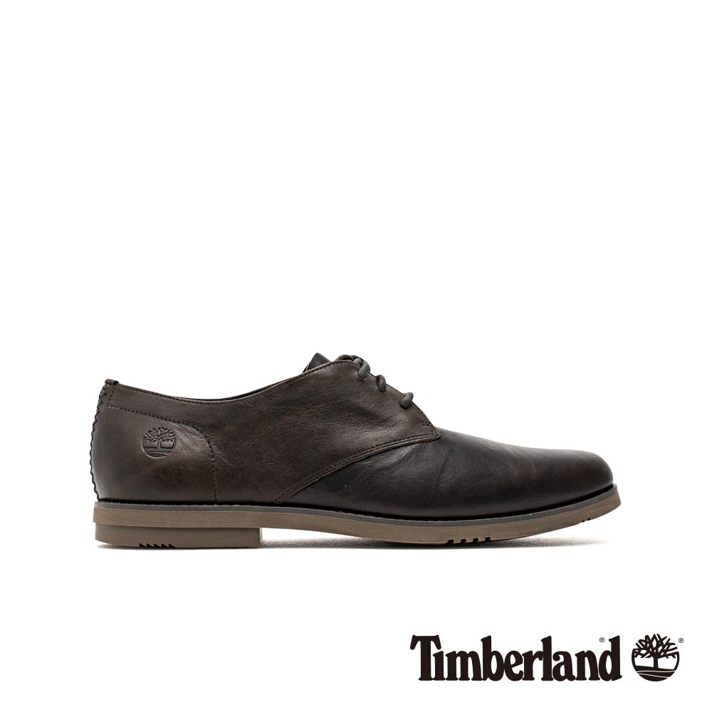 Timberland 男款黑色全粒面牛津鞋|A24BB