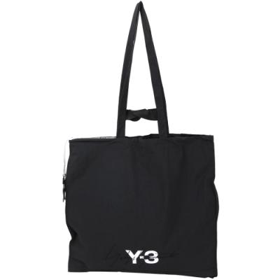 Y-3 標籤設計超大號尼龍托特包(黑色)