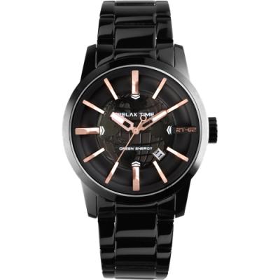 RELAX TIME RT62系列 人動電能地球腕錶-45mm