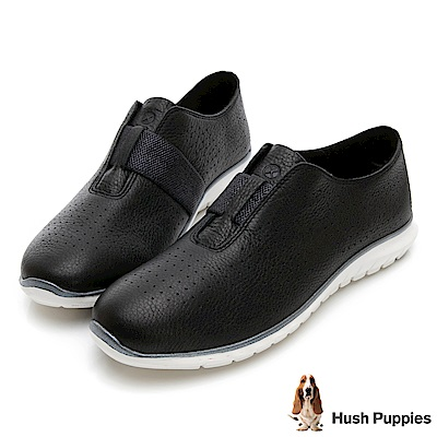 Hush Puppies TRICIA 冬感皮革健走鞋-黑
