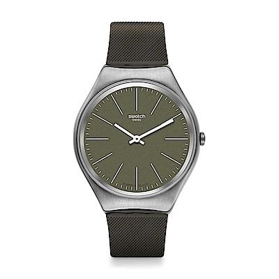 Swatch  超薄金屬系列 SKINNATURE 超薄金屬-棕質