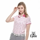 【Lynx Golf】女款吸濕排汗蛀蟲紗滿版印花短袖POLO衫-白色 product thumbnail 2