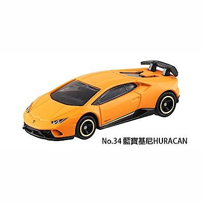 任選TOMICA No.34 藍寶基尼HURACAN TM034A4 多美小汽車