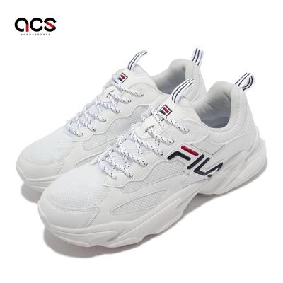 Fila 休閒鞋 Beats Tracer 2 男鞋 斐樂 緩震 柔軟 抗菌除臭 涼爽透氣 白 藍 1J526V125
