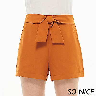SO NICE都會綁結造型短褲