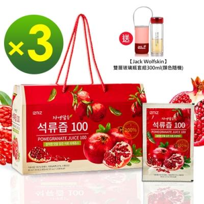 韓國IZMiZ逸直美 高濃度紅石榴鮮榨美妍飲禮盒x3箱(90包)-快