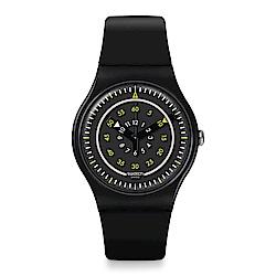 Swatch  Transformation系列 PIÙ NERO碳灰黑鏡