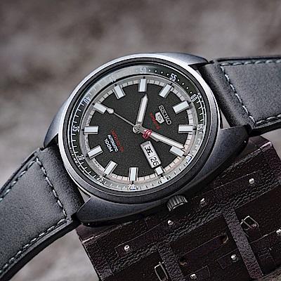 SEIKO精工 5號24石盾牌限量機械手錶(SRPB73J1)-鍍黑/44mm