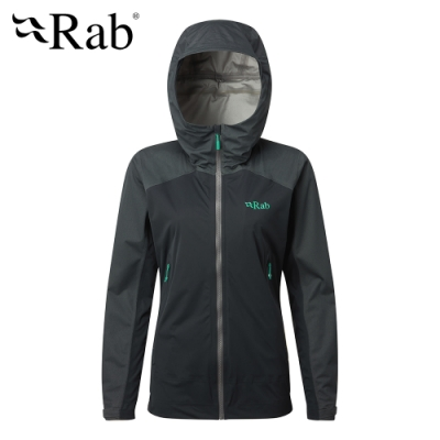 【RAB】Kinetic Alpine 透氣彈性防水外套 女款 鯨魚灰 #QWF76