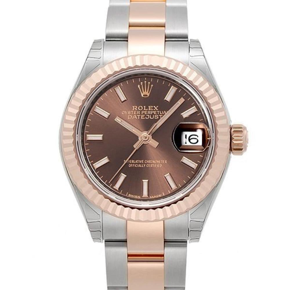 ROLEX 勞力士Datejust 279171蠔式半金日誌型腕錶x巧克力x28mm