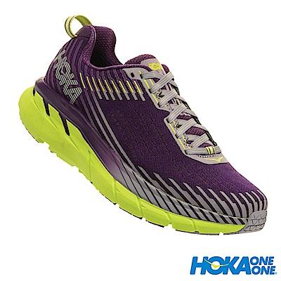 HOKA ONE ONE 女 Clifton 5 路跑鞋 科技網布 香葡紫