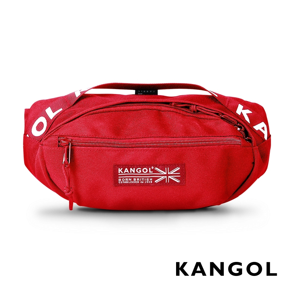 KANGOL LIBERTY系列 韓版潮流LOGO背帶腰包-紅色 KG1191