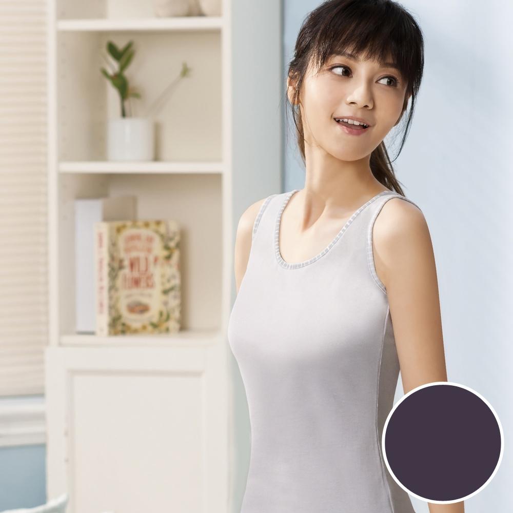 華歌爾-PH5.5 酸鹼平衡除臭纖維-健康蘭姿 M-LL背心素面款(魅惑紫)