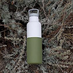 美國HYDY時尚保溫瓶_CinCin White海藻綠-白瓶 590ml