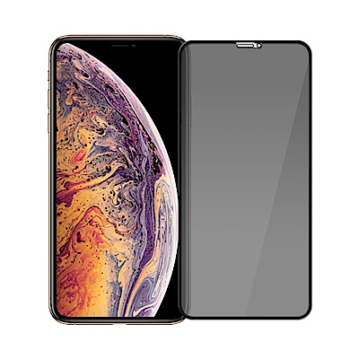 (贈空壓殼)康寧防窺iPhone XS MAX 3D曲面鋼化保護貼/黑色