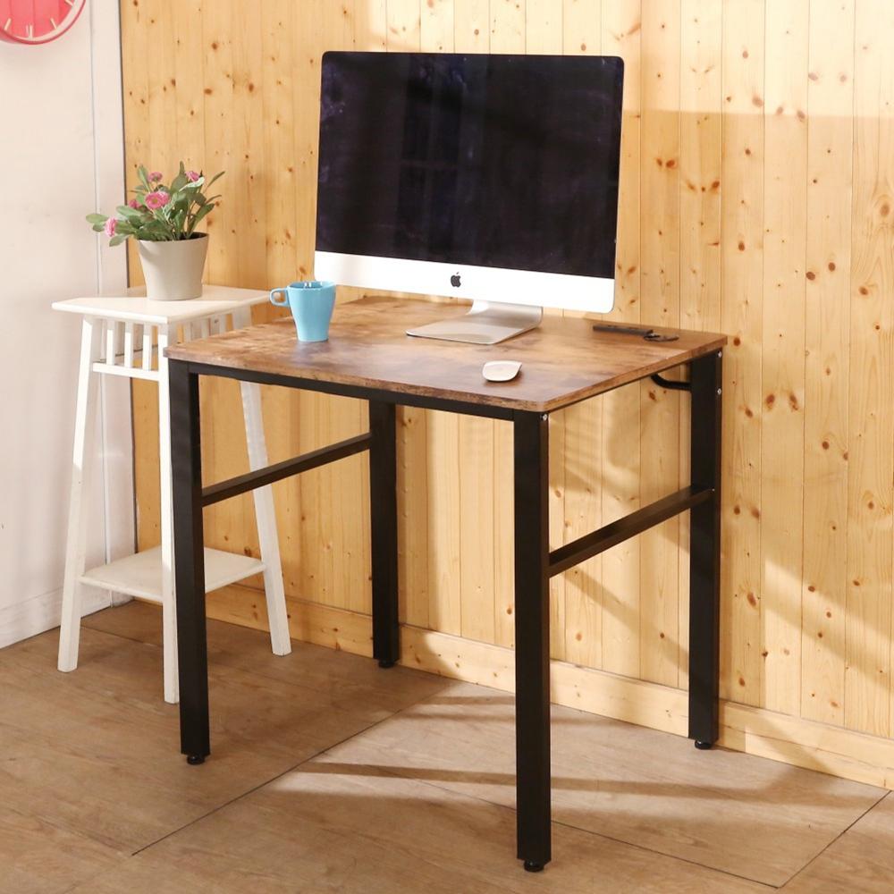 BuyJM低甲醛復古風80公分穩重附插座工作桌-DIY