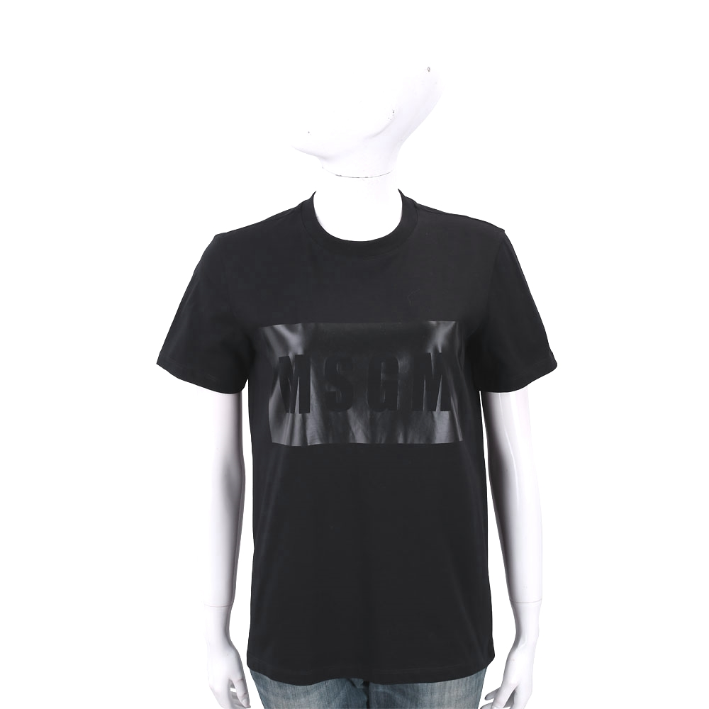 MSGM Box Logo 品牌人氣款黑色字母T恤