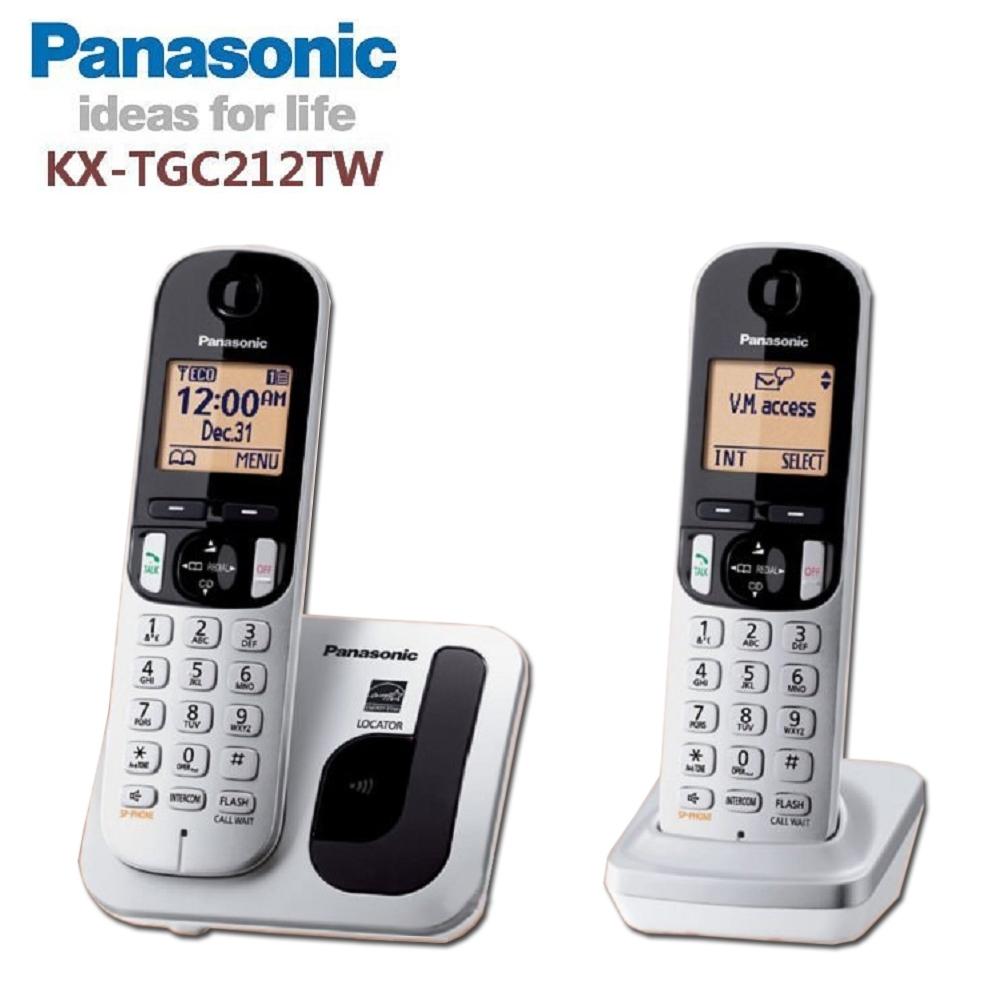 國際牌 DECT 雙手機數位無線電話KX-TGC212 TW