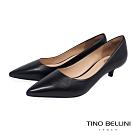 Tino Bellini巴西進口簡約俐落4cmOL低跟鞋_黑