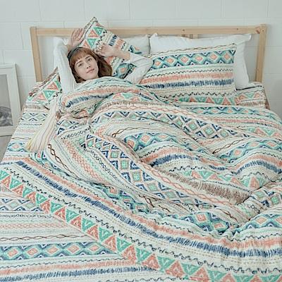 AmissU 北歐送暖法蘭絨單人床包枕套2件組 卡洛之舞