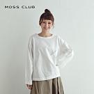 新降【MOSS CLUB】MIT製 鬆緊帶下擺設計款-襯衫(白色)