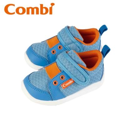 日本Combi童鞋 香榭巴黎幼兒機能包鞋-薰草藍