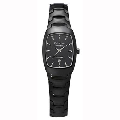 Valentino Coupeau 范倫鐵諾 古柏 精密陶瓷酒桶腕錶 黑陶 22mm