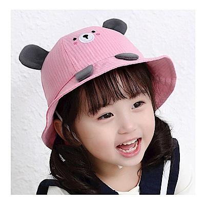 童趣春夏小熊造型兒童遮陽盆帽