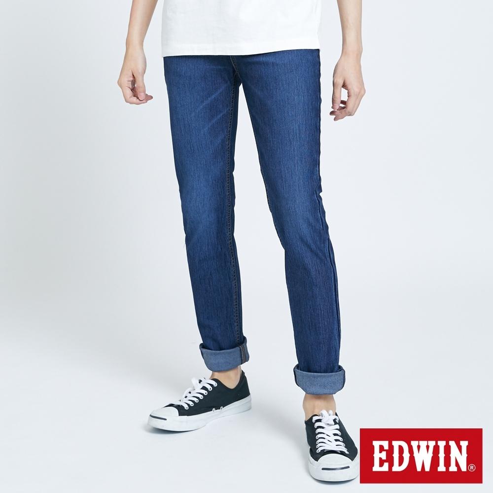 EDWIN JERSEYS x EDGE 皮條滾邊窄直牛仔褲-男-石洗綠