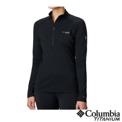 Columbia 哥倫比亞 女款- 鈦Omni HEAT3D鋁點快排立領內著上衣