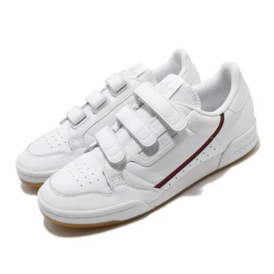 adidas 休閒鞋 Continental 80 男女鞋 海外限定 愛迪達 皮革鞋面 魔鬼氈 白 紅 EE5359
