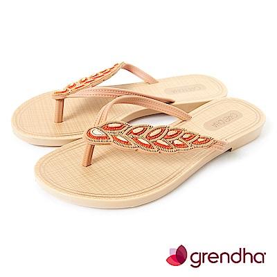Grendha 黃金麥穗人字帶夾腳鞋-橘色
