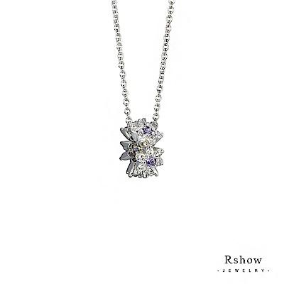Rshow 紫漾璀璨花圈項鍊