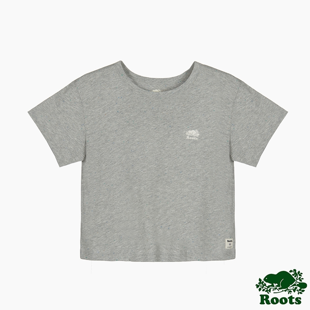 Roots 女裝- 雜點效果短袖T恤-灰色