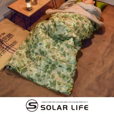 Coleman 表演者III睡袋 大自然迷彩C10 CM-35288.信封式睡袋 化纖睡袋 可機洗拼接 露營睡袋 登山保暖睡袋