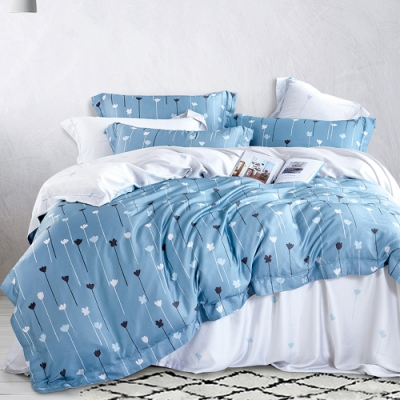 Ania Casa 淺喜 天絲 100% TENCEL 雙人鋪棉兩用被套床包四件組
