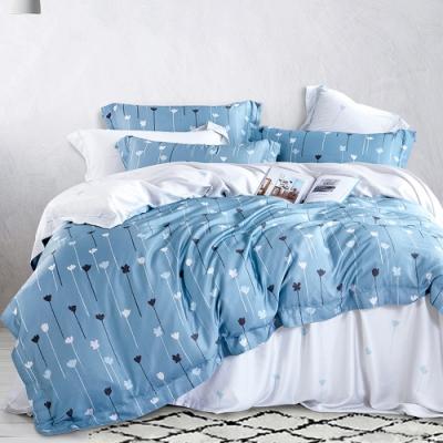Ania Casa 淺喜 天絲 100% TENCEL 加大鋪棉兩用被套床包四件組