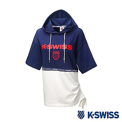 K-SWISS Hood T-Shirt短袖連帽上衣-女-藍