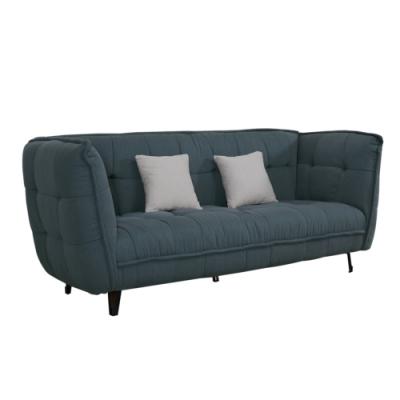 文創集 巴斯妮現代風棉麻布三人座沙發椅-210x85x86cm免組