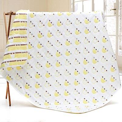 QBabe 六層棉紗雙面保暖透氣毯-黃色皇冠