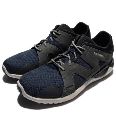 Merrell 戶外鞋 1Six8 Mesh 男鞋 運動 越野 登山 低筒  輕量 灰 藍 ML91353