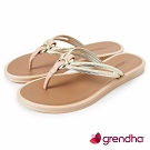 Grendha 炫彩異國風夾腳鞋-米色/金