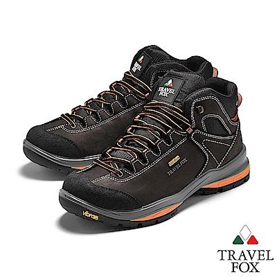 TRAVEL FOX(男) 牛巴戈防震禦寒運動登山鞋 - 朵霞灰