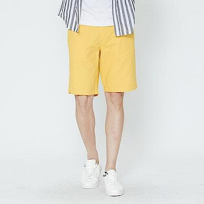 Hang Ten - 男裝 - 百慕達休閒短褲-黃色