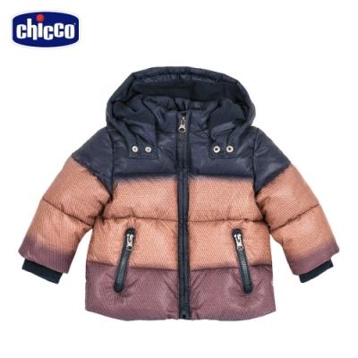 chicco- 幾何世界-漸層活動帽鋪棉長版外套