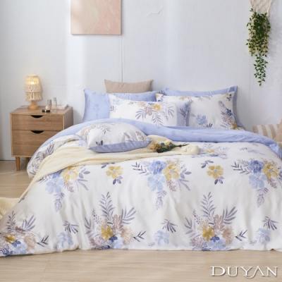 DUYAN竹漾-100%頂級萊塞爾天絲-雙人加大兩用被床包四件組-輕妍夢璃